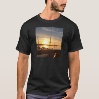 Boats on Marina at Sunset T-Shirt