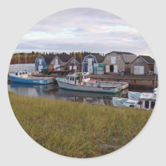 Boats on Prince Edward Island Classic Round Sticker