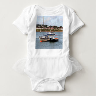 Boats on River Conwy, Wales Baby Bodysuit