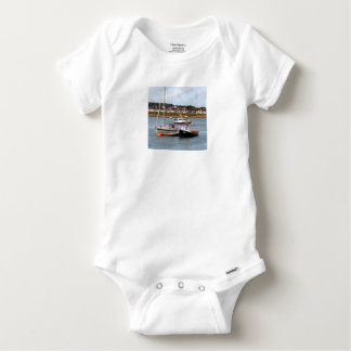 Boats on River Conwy, Wales Baby Onesie