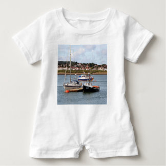 Boats on River Conwy, Wales Baby Romper