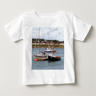 Boats on River Conwy, Wales Baby T-Shirt