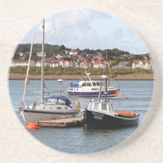 Boats on River Conwy, Wales Coaster