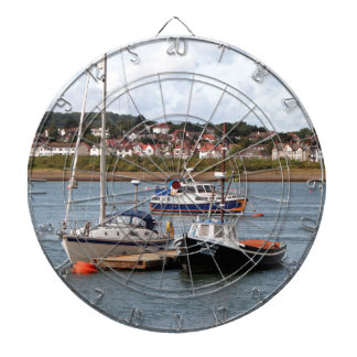 Boats on River Conwy, Wales Dartboard