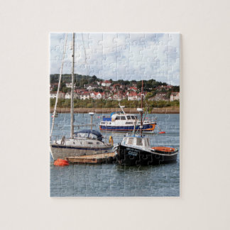 Boats on River Conwy, Wales Jigsaw Puzzle