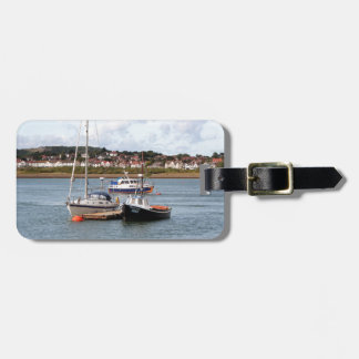 Boats on River Conwy, Wales Luggage Tag