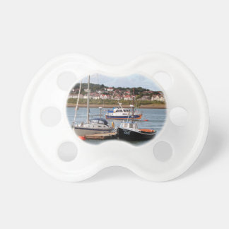 Boats on River Conwy, Wales Pacifier