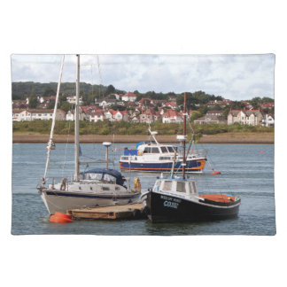 Boats on River Conwy, Wales Placemat