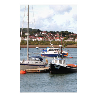 Boats on River Conwy, Wales Stationery