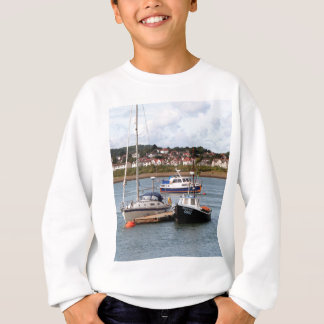 Boats on River Conwy, Wales Sweatshirt