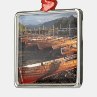 Boats on Shores of Derwentwater Metal Ornament