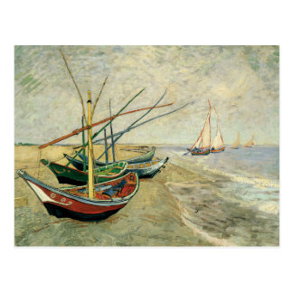 Boats on the Beach at Saintes-Maries Postcard