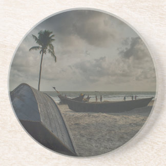Boats on the Beach Drink Coaster