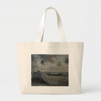 Boats on the Beach Large Tote Bag