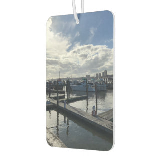Boats on the Hudson River Riverside Park New York Car Air Freshener