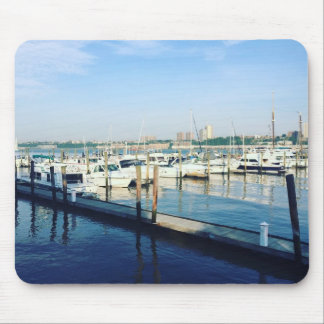 Boats on the Hudson River, Riverside Park, NYC Mouse Pad