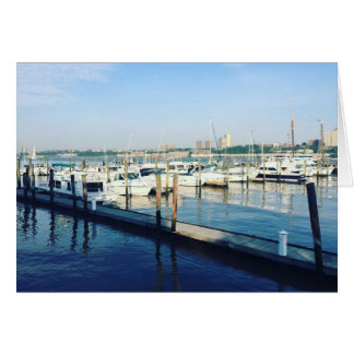 Boats on the Hudson River Riverside Park NYC Photo Card