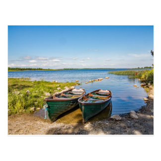"""Boats on the Irish lough"" postcards"