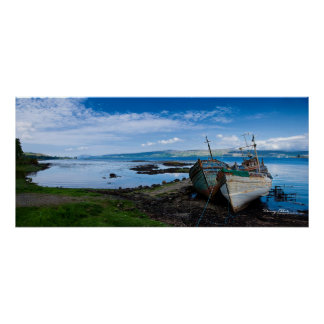 Boats on the Isle of Mull Poster