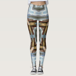 Boats on the Lake Geometric Leggings