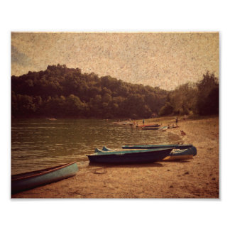 Boats on the lake Photo Paper