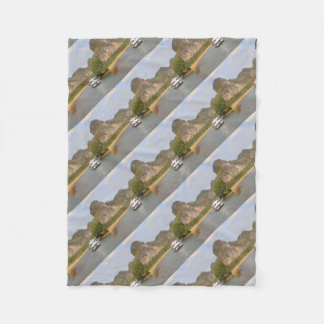 Boats on the Li River, China Fleece Blanket