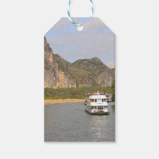 Boats on the Li River, China Gift Tags