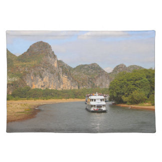 Boats on the Li River, China Placemat