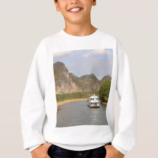 Boats on the Li River, China Sweatshirt