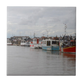 Boats On The River At Southwold Tiles