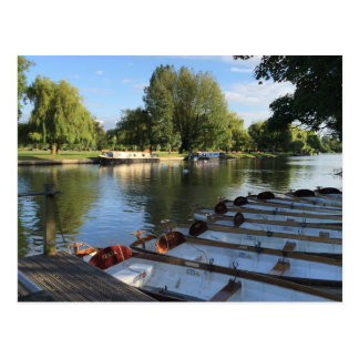 Boats on the River, Stratford Upon Avon UK Travel Postcard