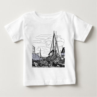 boats on the sea baby T-Shirt