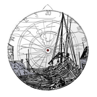boats on the sea dartboard
