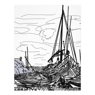 boats on the sea letterhead