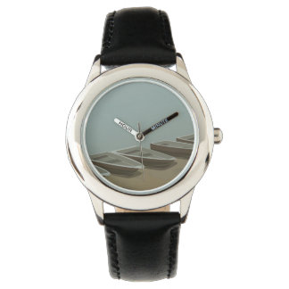 Boats on the shore wristwatches