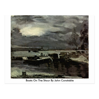 Boats On The Stour By John Constable Postcard