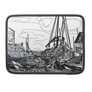 boats on the water sleeve for MacBook pro