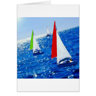 Boats over the sea card