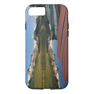 Boats parked on the lakeshore of Maligne Lake, iPhone 7 Case