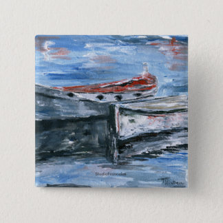 Boats Ready For The Adventure 2 Inch Square Button