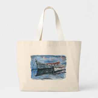Boats Ready For The Adventure Large Tote Bag