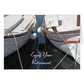 Boats Reflection Retirement Card