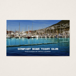 Boats sailing yacht club in harbor business business card