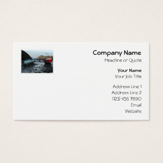 Boats. Watermouth, Devon, UK. Business Card