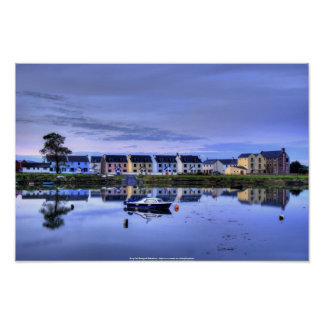 Boatyard Reflections Poster