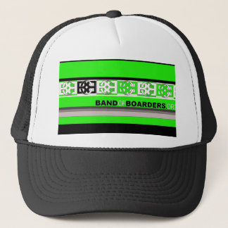 Bob band green trucker hat
