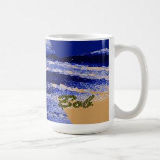 Bob Blue and Brown Design Mug