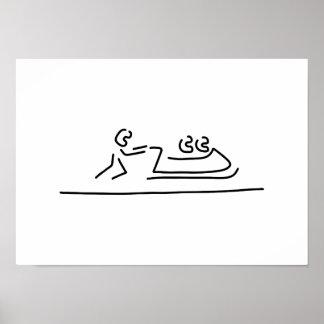 bob bobfahrer winter sports poster