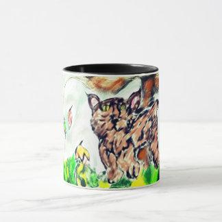 Bob cat art mug