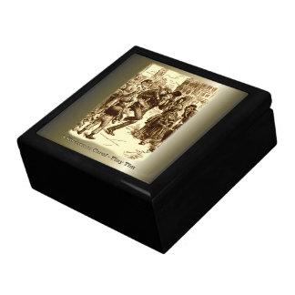 Bob Cratchit and Tiny Tim Christmas Carol Keepsake Boxes